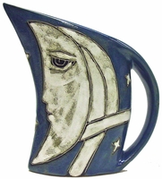Mara Stoneware 32oz  Curved Pitcher - Celestial