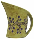 Mara Stoneware 32oz  Curved Pitcher - Grapevines