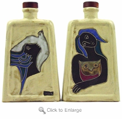 Mara Stoneware 44oz Rectangular Decanter - Women/Dove