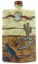 Mara Stoneware 44oz Tall Rectangular Decanter - Desert Scene-out of stock until approximately early June