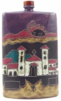 Mara Stoneware 44oz Tall Rectangular Decanter - Pueblo