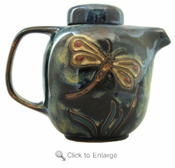 Mara Stoneware 44oz Teapot - Dragonfly-Out of Stock Until 11-27-19