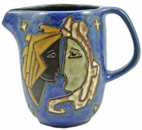 Mara Stoneware 48oz  Serving Pitcher - Celestial