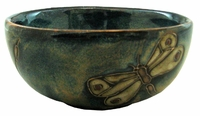"""Mara Stoneware 6"""" x 2.5"""" Deep Bowl - Dragonfly-Out of Stock Until 07-25-20"""