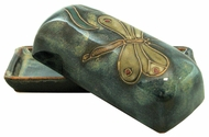 Mara Stoneware Butter Dish with Lid - Dragonfly