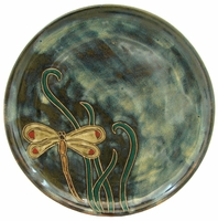"Mara Stoneware 9-1/2"" Dinner Plate - Dragonfly"