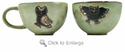 Mara Stoneware Soup or Coffee Cup - Owls