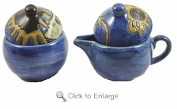 Mara Stoneware Sugar and Creamer - Celestial - Blues