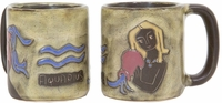 Mara Stoneware Zodiac Coffee Mugs - Aquarius