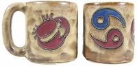 Mara Stoneware Zodiac Coffee Mugs - Cancer