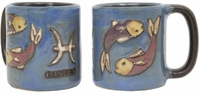 Mara Stoneware  Zodiac Coffee Mugs - Pisces-out of stock until approximately early June