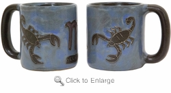 Mara Stoneware Zodiac Coffee Mugs - Scorpio-Out of Stock Until 07-25-20