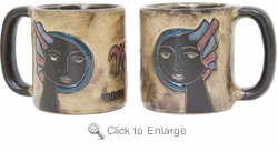 Mara Stoneware Zodiac Coffee Mugs - Virgo