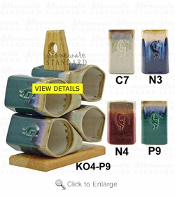 Padilla Stoneware Kokopelli Mug 12oz Set of Four - Tree Optional