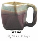 Padilla Stoneware Twister Mug 16oz Set of Six - Tree Optional