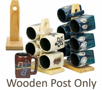 Wooden Post for Square Mugs