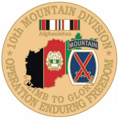 10th Mountain Division Opeation Enduring Freedom Pin