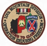 10th Mountain Division Operation Enduring Freedom Patch