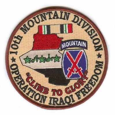 10th Mountain Division Operation Iraqi Freedom Patch