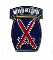 10th Mountain Division Pin