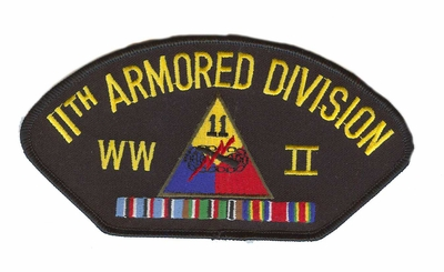 11th Armored Division WWII Hat Patch