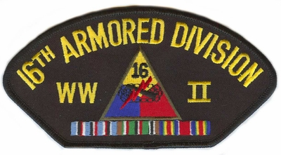 16th Armored Division WWII Patch