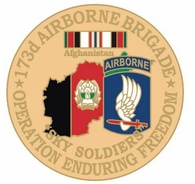 173rd Airborne Brigade Operation Enduring Freedom Pin