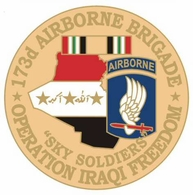 173rd Airborne Brigade Operation Iraqi Freedom Pin