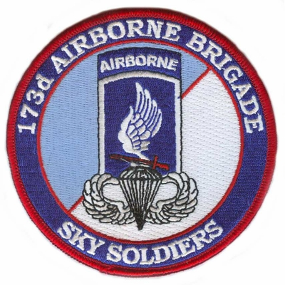 173rd Airborne Brigade Patch with Jump Wings