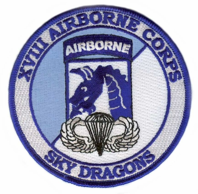 18th Airborne Corps Patch with Jump Wings