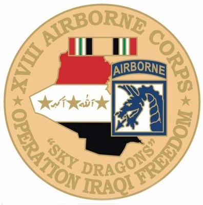18th Airborne Division Operation Iraqi Freedom Pin