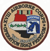 18th XVIII Airborne Corps Operation Iraqi Freedom Patch