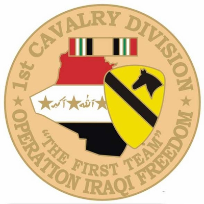 1st Cavalry Division Operation Iraqi Freedom Pin