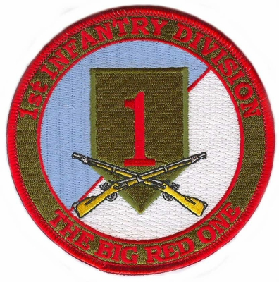 1st Infantry Division Patch with Rifles