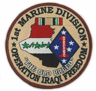 1st Marine Division Operation Iraqi Freedom Patch