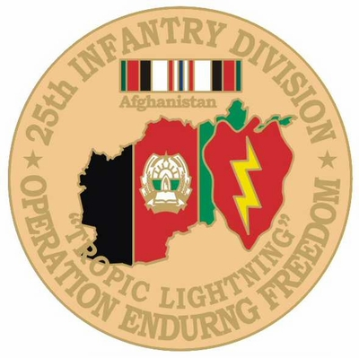 25th Infantry Division Operation Enduring Freedom Pin