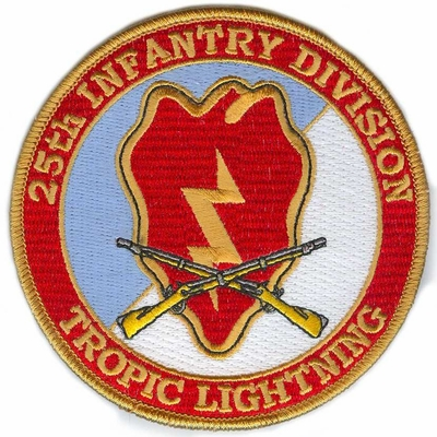 25th Infantry Division Patch with Rifles
