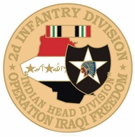2nd Infantry Division Operation Iraqi Freedom Pin