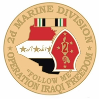 2nd Marine Corps Division Operation Iraqi Freedom Pin