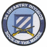 3rd Infantry Division Patch with Rifles
