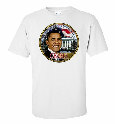 44th President with American Flag and White House Shirts