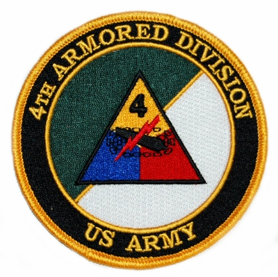 4th Armored Division with Crossed Sabres Patch
