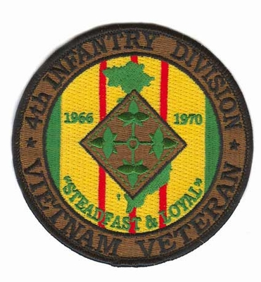 4th Infantry Division Vietnam Veteran Patch