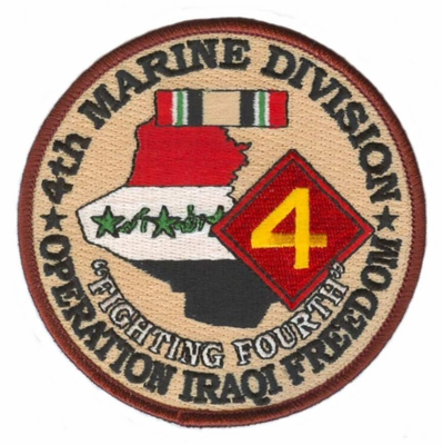 4th Marine Corps Division Operation Iraqi Freedom Patch