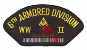 6th Armored Division WWII Hat Patch