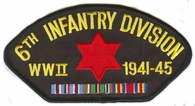 6th Infantry Division WWII Hat Patch