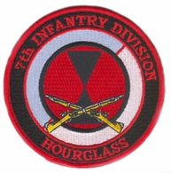 7th Infantry Division Patch with Rifles