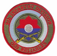 9th Infantry Division Patch with Rifles
