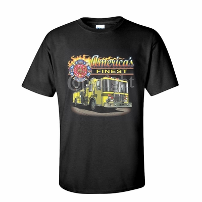 America's Finest with Fire Truck Shirts