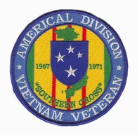 Americal Division Vietnam Veteran Patch